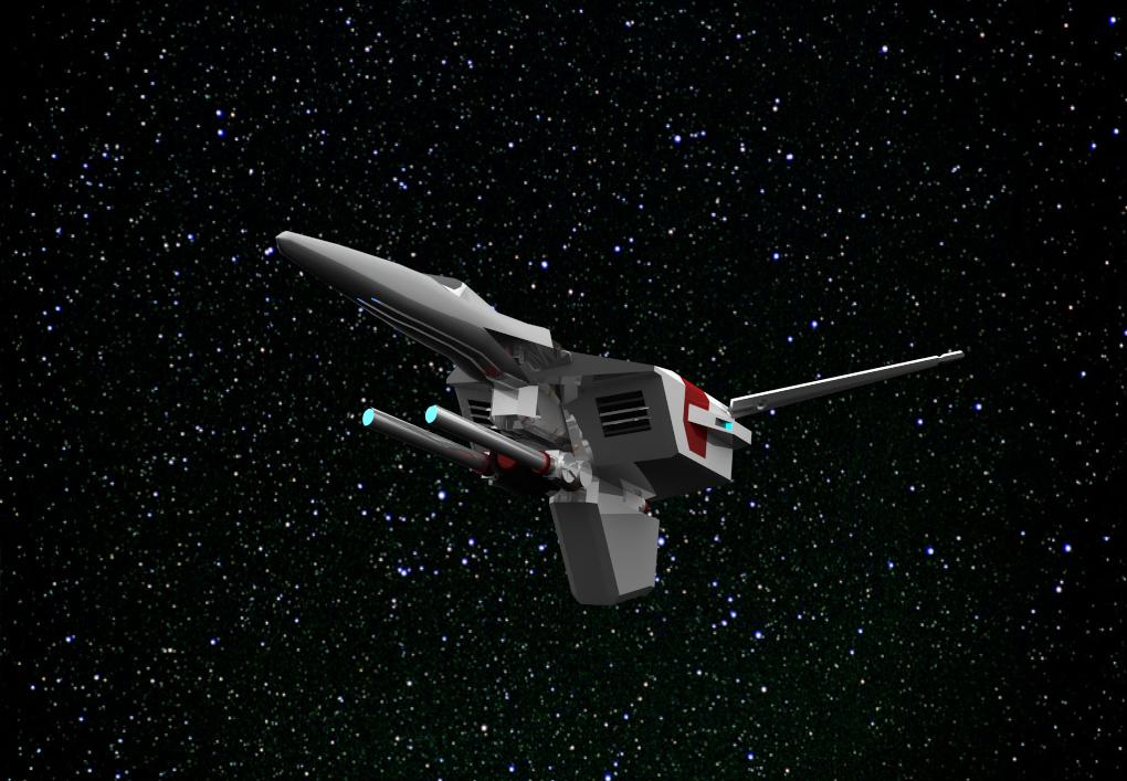 UGSF航宙機ジオソード俯瞰図